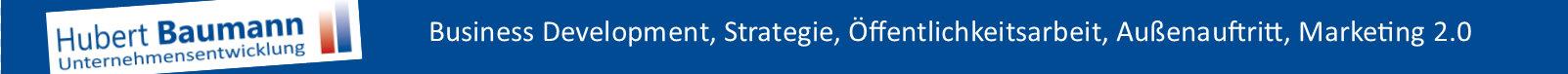 Unternehmensentwicklung, Business Development, Strategie, Außenauftritt, Marketing-2.0